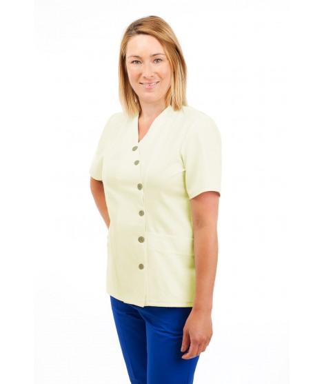 T12 Nurses Uniforms Ladies Side Closing Tunic V Neck Magnolia T12-MAG