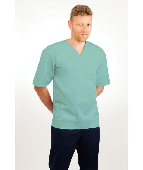 T21 Nursing Uniforms Top V Neck Male Eau De Nil T21-EDN