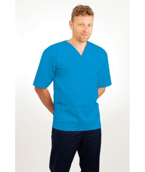 T21 Nursing Uniforms Top V Neck Male Kingfisher T21-KI