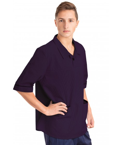 T22 Nurses Top Revere Collar Male Navy T22-NAV