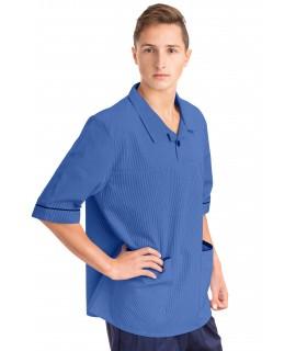 T22 Nurses Top Revere Collar Male Hospital Blue T22-HBL