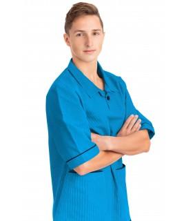 T22 Nurses Top Revere Collar Male Kingfisher T22-KI