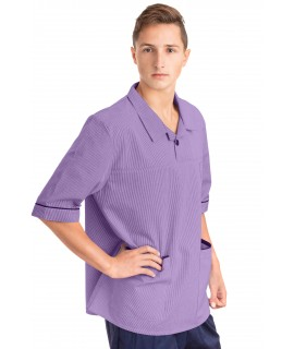 T22 Nurses Top Revere Collar Male Lilac T22-NLI