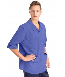 T22 Nurses Top Revere Collar Male Metro Blue T22-MET