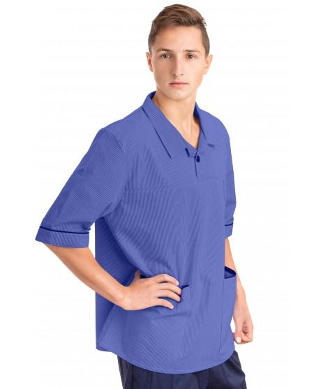 T22 Nurses Top Revere Collar Male Metro Blue T22-MET