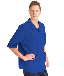 T22 Nurses Top Revere Collar Male Mid Blue T22-BMB