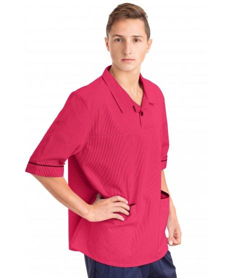 T22 Nurses Top Revere Collar Male Rosita T22-ROS