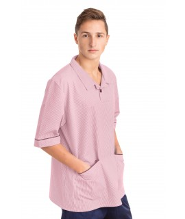 T22 Nurses Top Revere Collar Male Pink T22-LPI