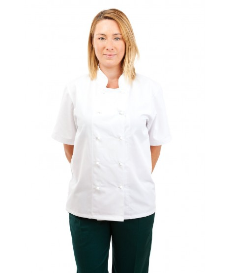 CH30 : Chefs Jacket Short Sleeve White or Black CH30