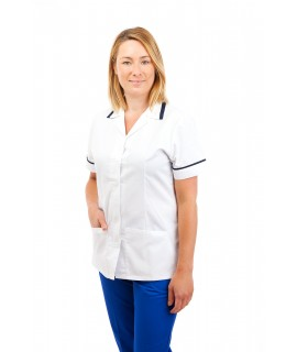 White - Nurses Uniforms Ladies Square Collar Concealed Buttons T15 T15