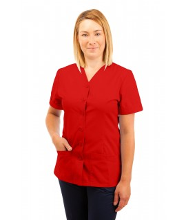 T02 Nurses Uniform V Neck Red T02-RED