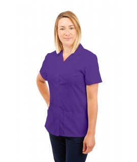 T01 Nurses Uniform Tunic Revere Collar Purple T01-PUR