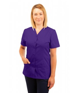 T02 Nurses Uniform V Neck Purple T02-PUR