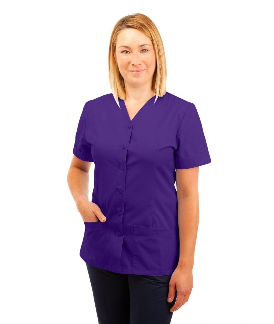 T02 Nurses Uniform V Neck Purple T02-PUR