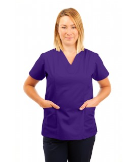 T05 Nursing Uniforms Fitted Scrub V Neck Purple T05-PUR