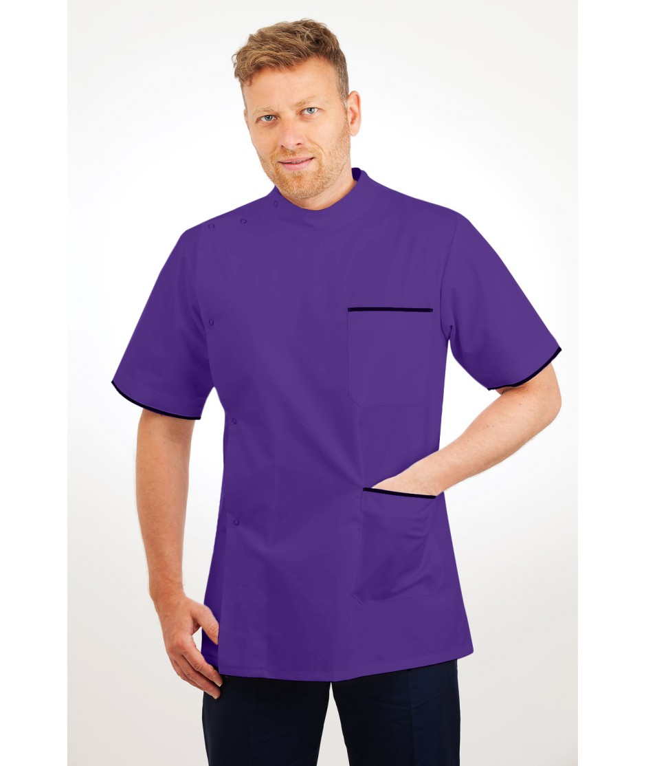 T20 Nurses Uniforms Top Males Purple T20-PUR