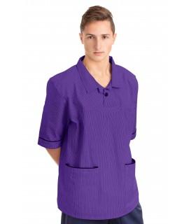 T22 Nurses Top Revere Collar Male Purple T22-PUR