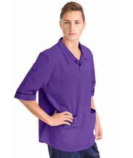 T22 Nurses Top Revere Collar Male Purple T22-PUR