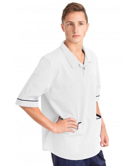 White - Nurses Top Revere Collar Male T22 T22