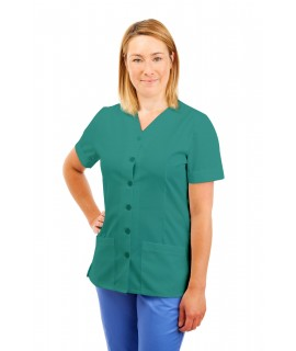 T02 Nurses Uniform V Neck Aqua T02-AQU