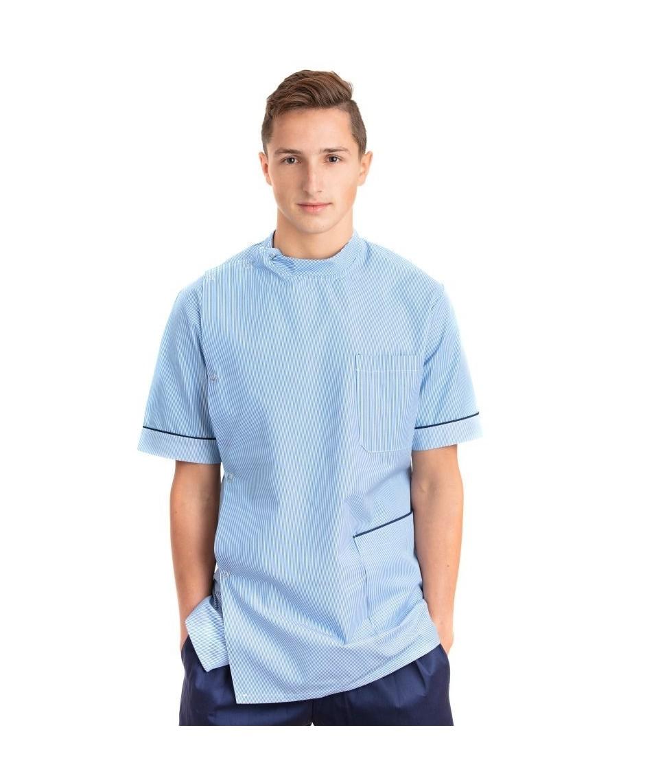 Male Stud Side Closing Nursing Uniform Top T20 T20