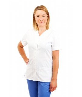 White - Nurses Uniform V Neck T02 T02
