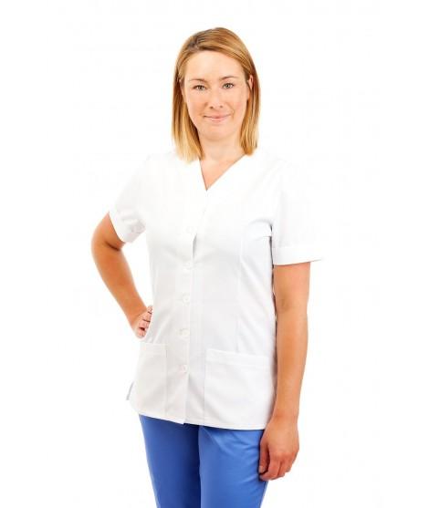 White - Nurses Uniform V Neck T02 T02